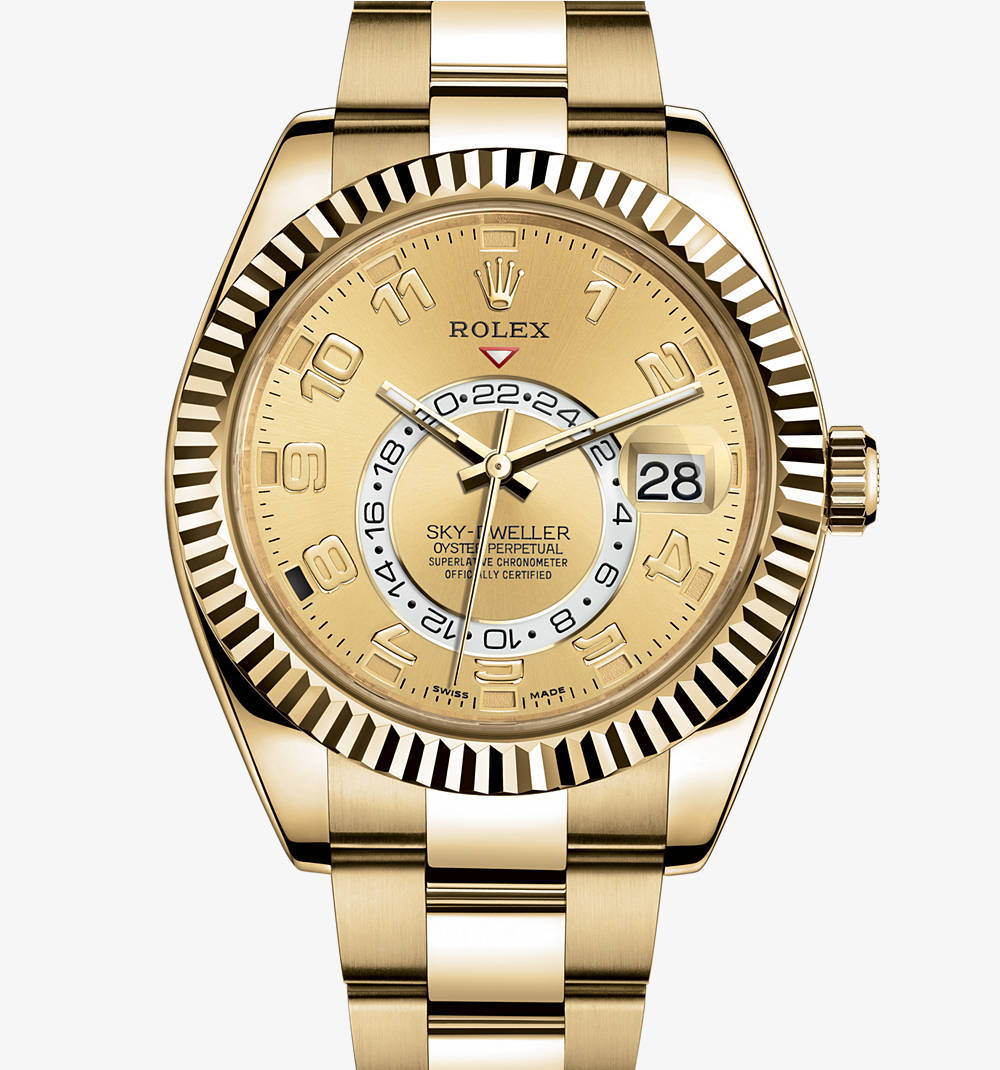 Replica Rolex Sky -Dweller Watch: 18 ct Gelbgold - M326938-0002 [ad7b]